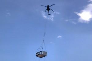 travaille hélicoptère